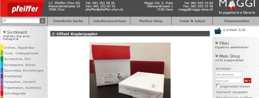 Buromaterial Pfeiffer Chur